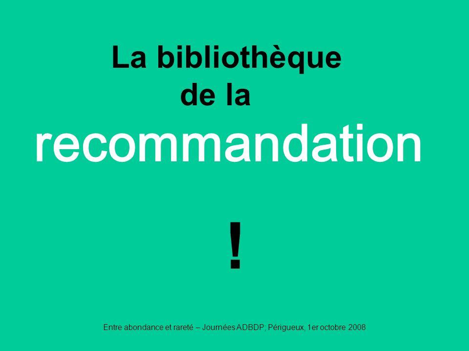 ! recommandation La bibliothèque de la