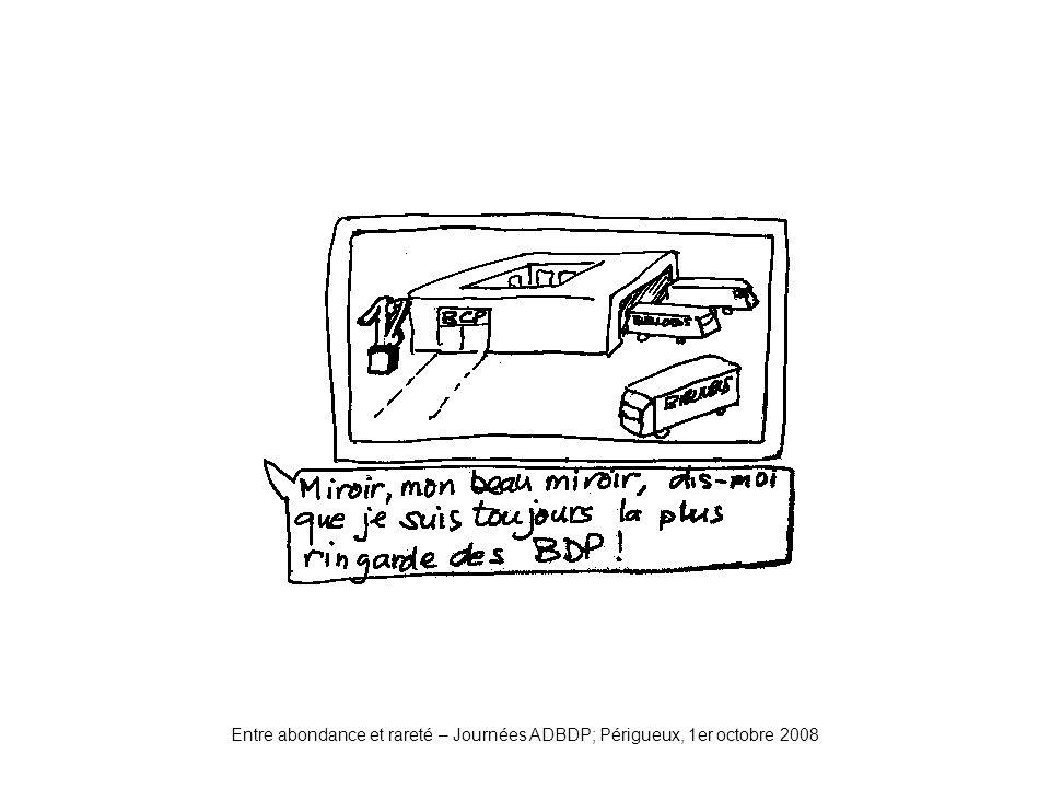 Miroir2 Entre abondance et rareté – Journées ADBDP; Périgueux, 1er octobre 2008