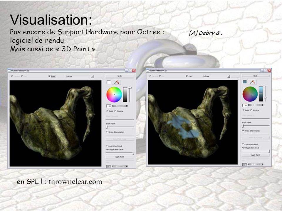 Visualisation: Pas encore de Support Hardware pour Octree :