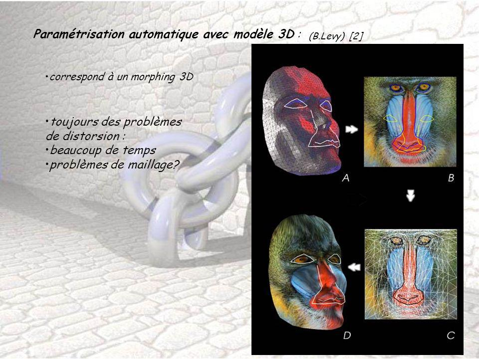 Paramétrisation automatique avec modèle 3D :