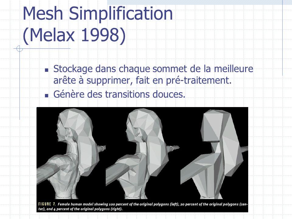 Mesh Simplification (Melax 1998)