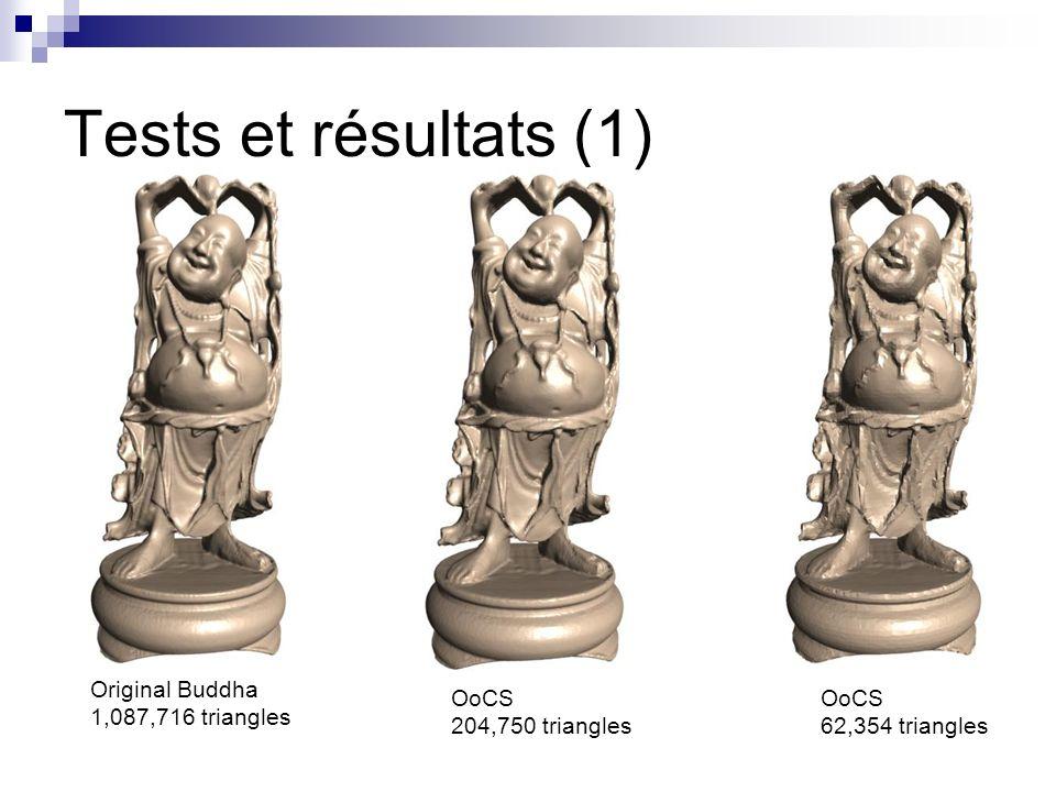 Tests et résultats (1) Original Buddha 1,087,716 triangles