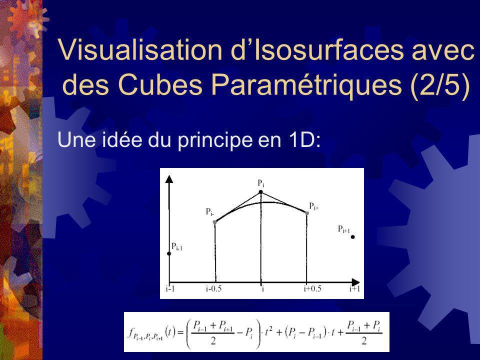 Visualisation d'Isosurfaces avec des Cubes Paramétriques (2/5)