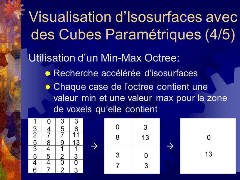 Visualisation d'Isosurfaces avec des Cubes Paramétriques (4/5)