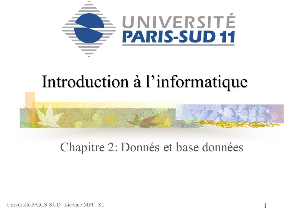 Introduction à l'informatique
