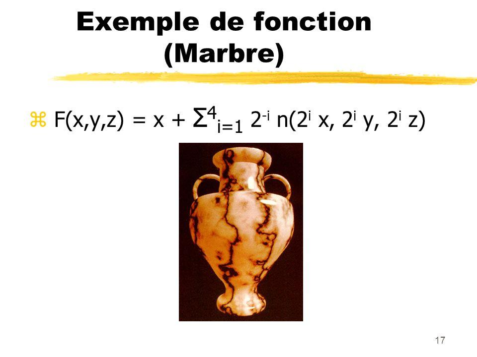 Exemple de fonction (Marbre)