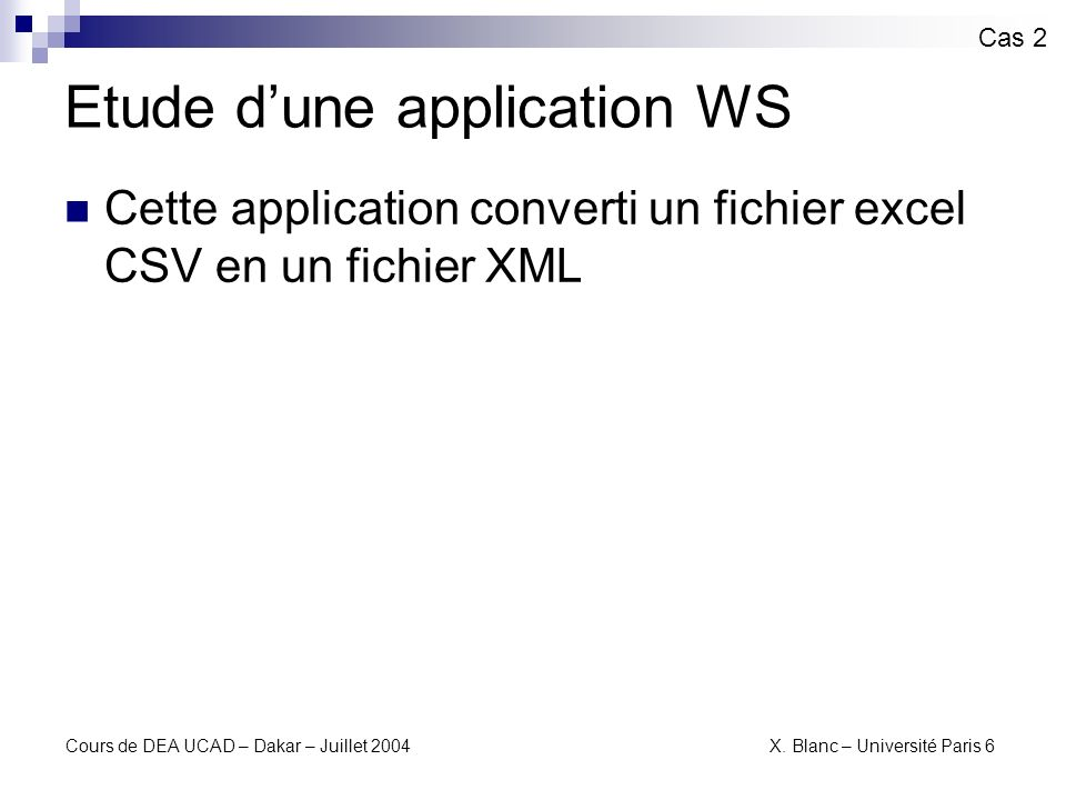 Etude d'une application WS