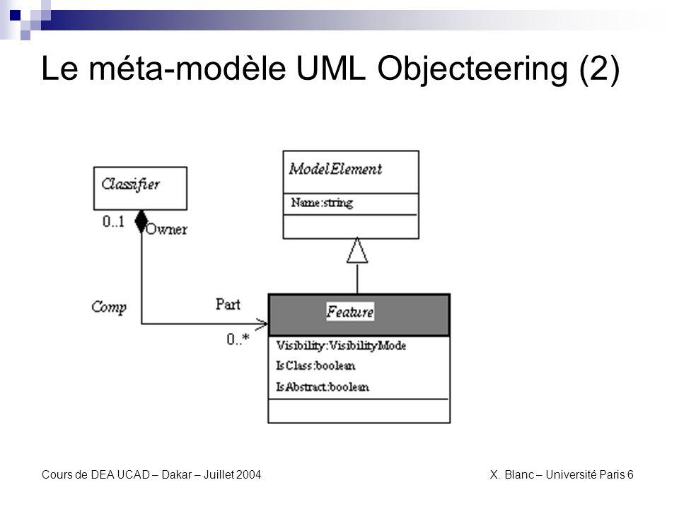 Le méta-modèle UML Objecteering (2)
