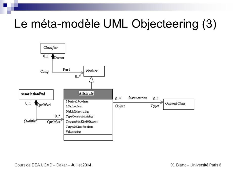 Le méta-modèle UML Objecteering (3)