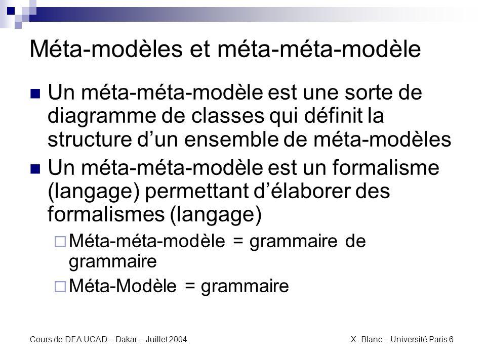 Méta-modèles et méta-méta-modèle