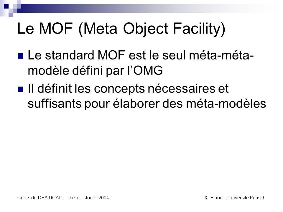 Le MOF (Meta Object Facility)