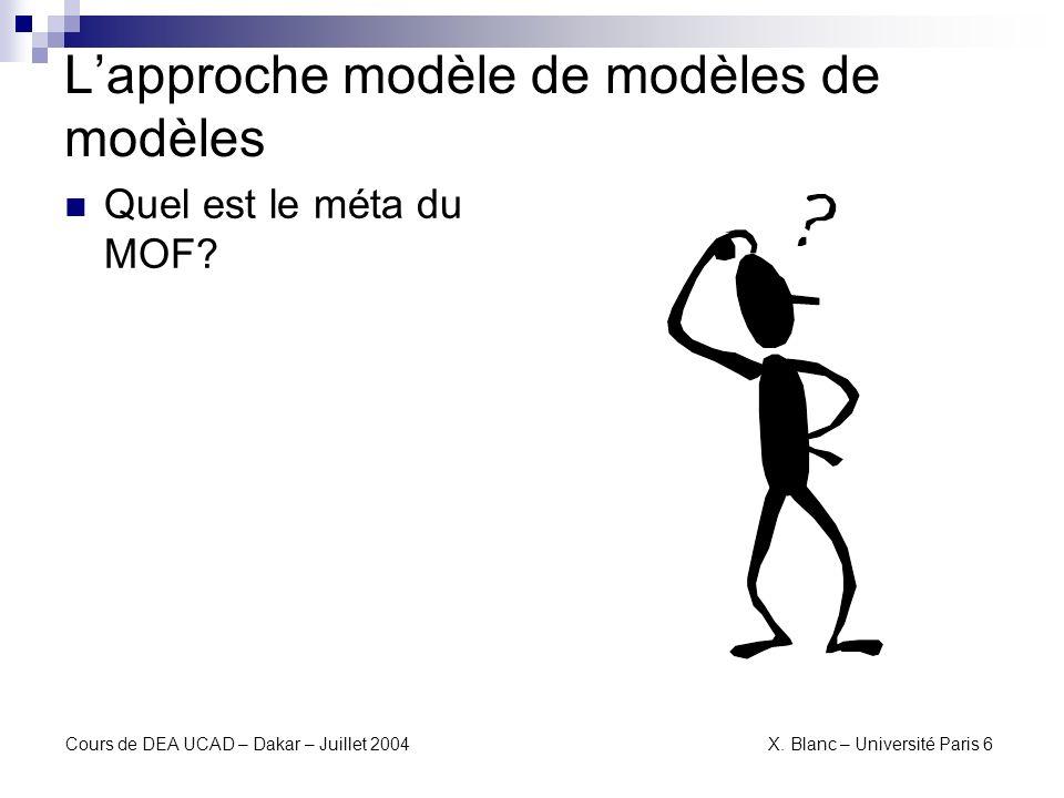L'approche modèle de modèles de modèles