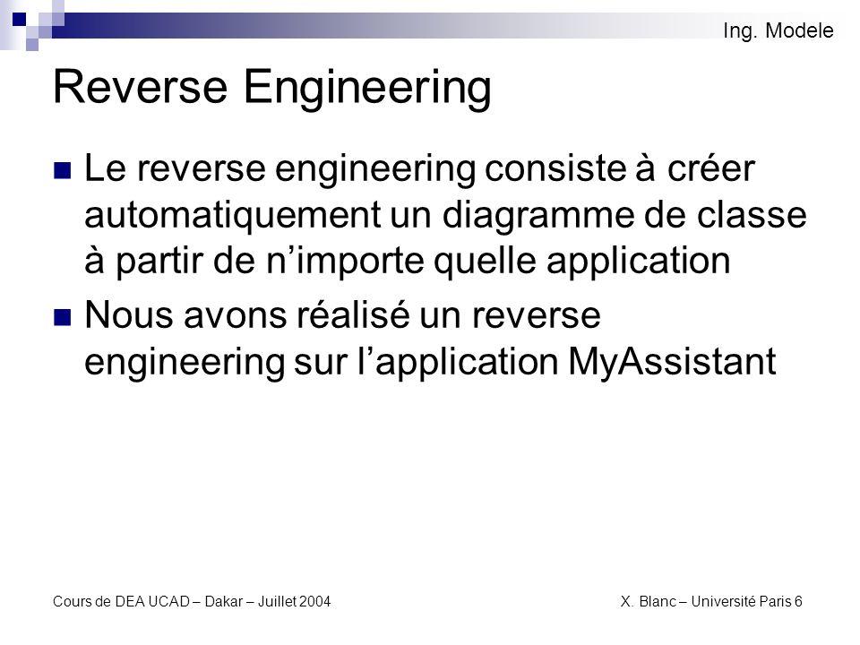Ing. ModeleReverse Engineering.