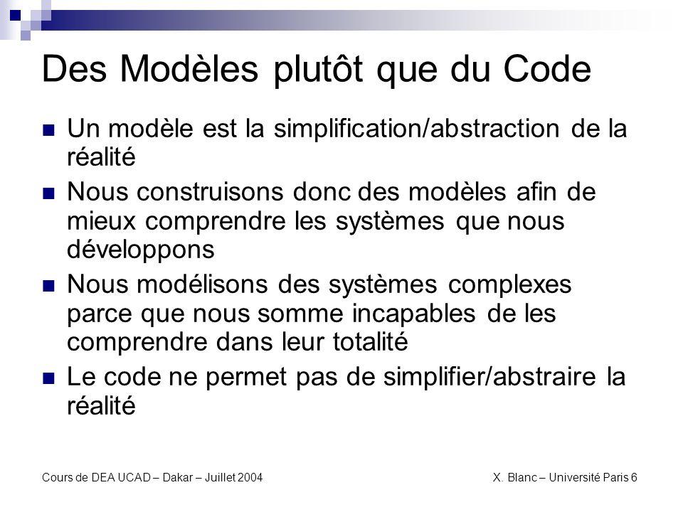Des Modèles plutôt que du Code