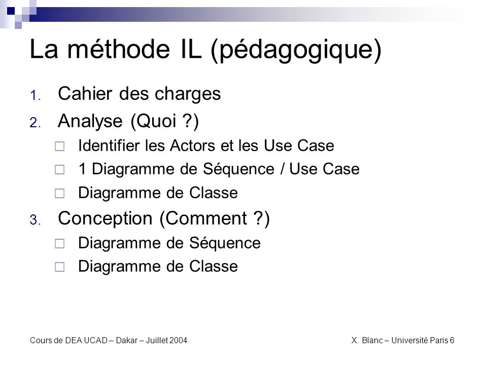 La méthode IL (pédagogique)