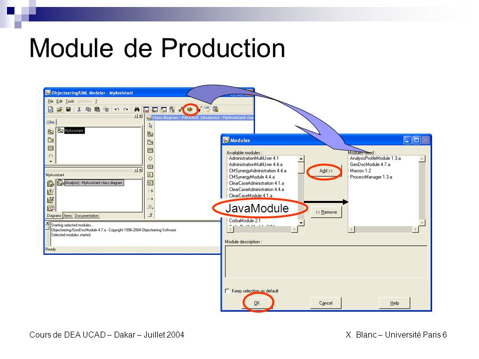 Module de Production JavaModule