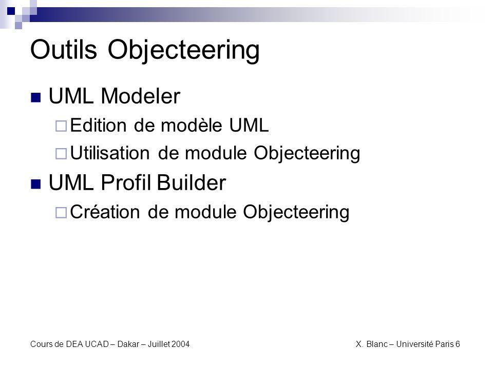 Outils Objecteering UML Modeler UML Profil Builder