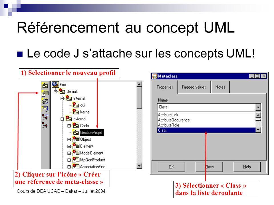 Référencement au concept UML