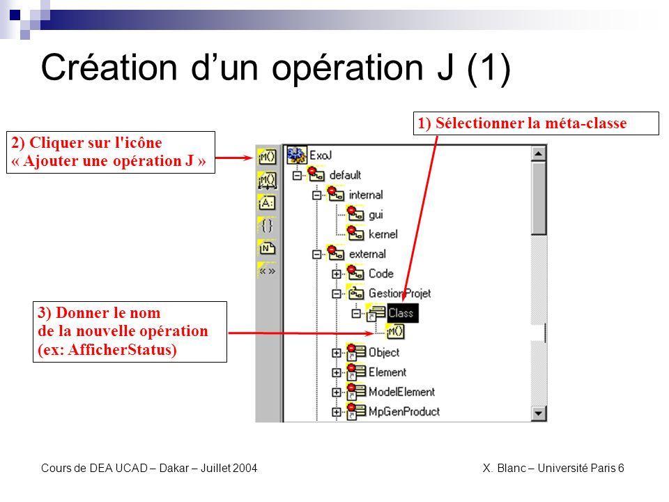 Création d'un opération J (1)
