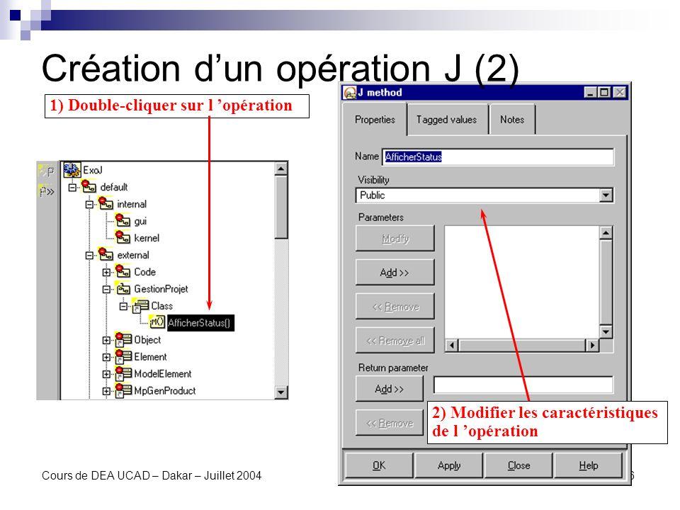 Création d'un opération J (2)