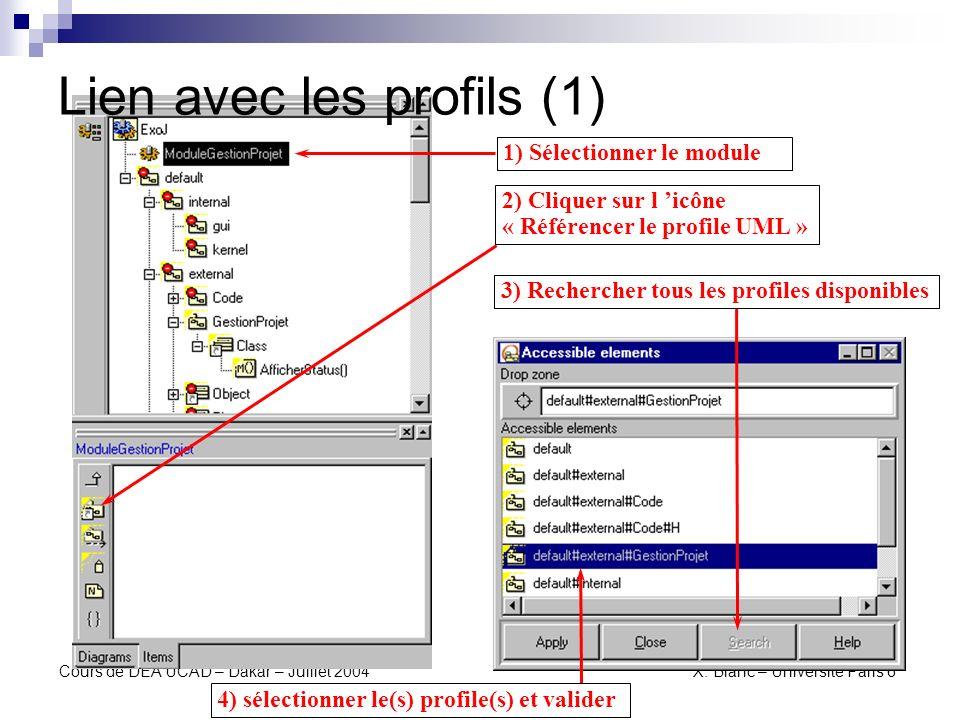 Lien avec les profils (1)