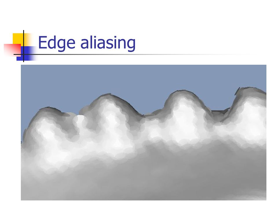 Edge aliasing