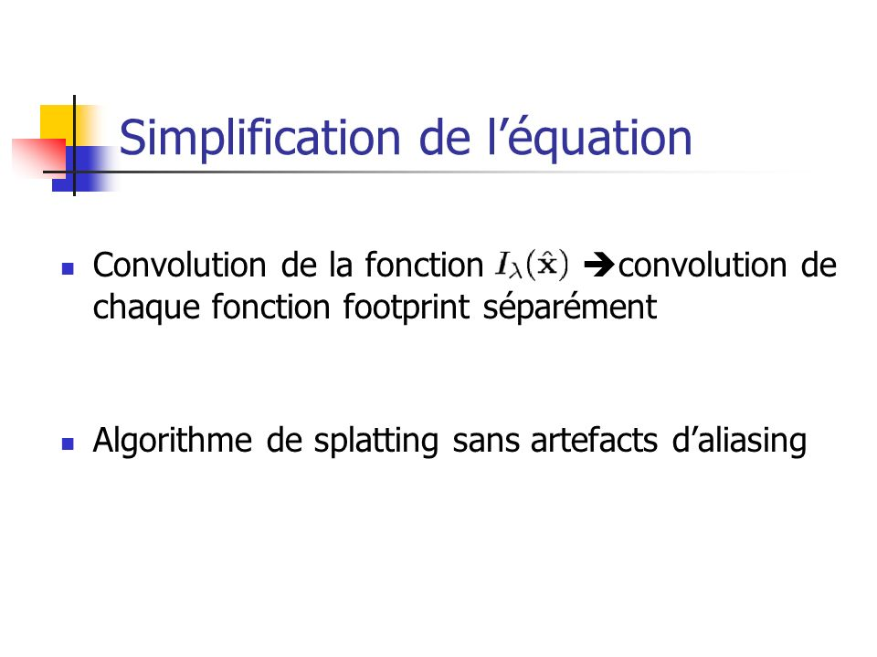 Simplification de l'équation