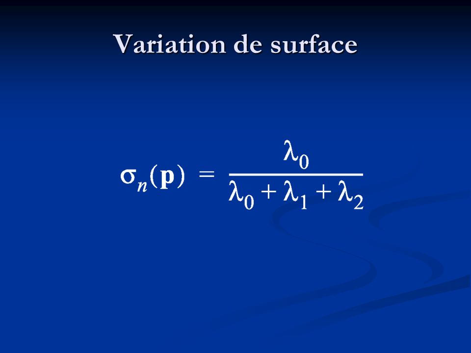 Variation de surface