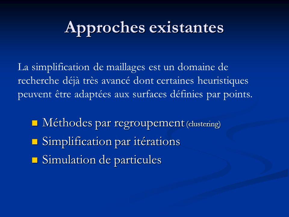 Approches existantes Méthodes par regroupement (clustering)
