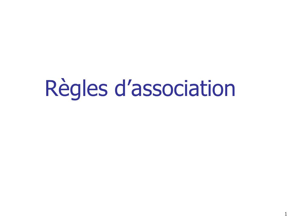 Règles d'association