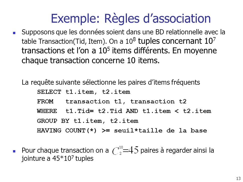 Exemple: Règles d'association