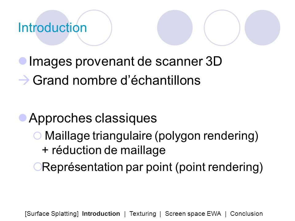 Images provenant de scanner 3D Grand nombre d'échantillons