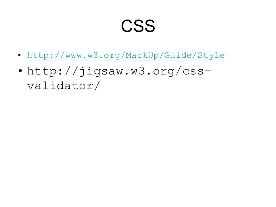 CSS http://jigsaw.w3.org/css-validator/