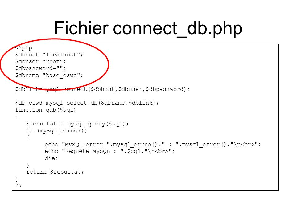 Fichier connect_db.php
