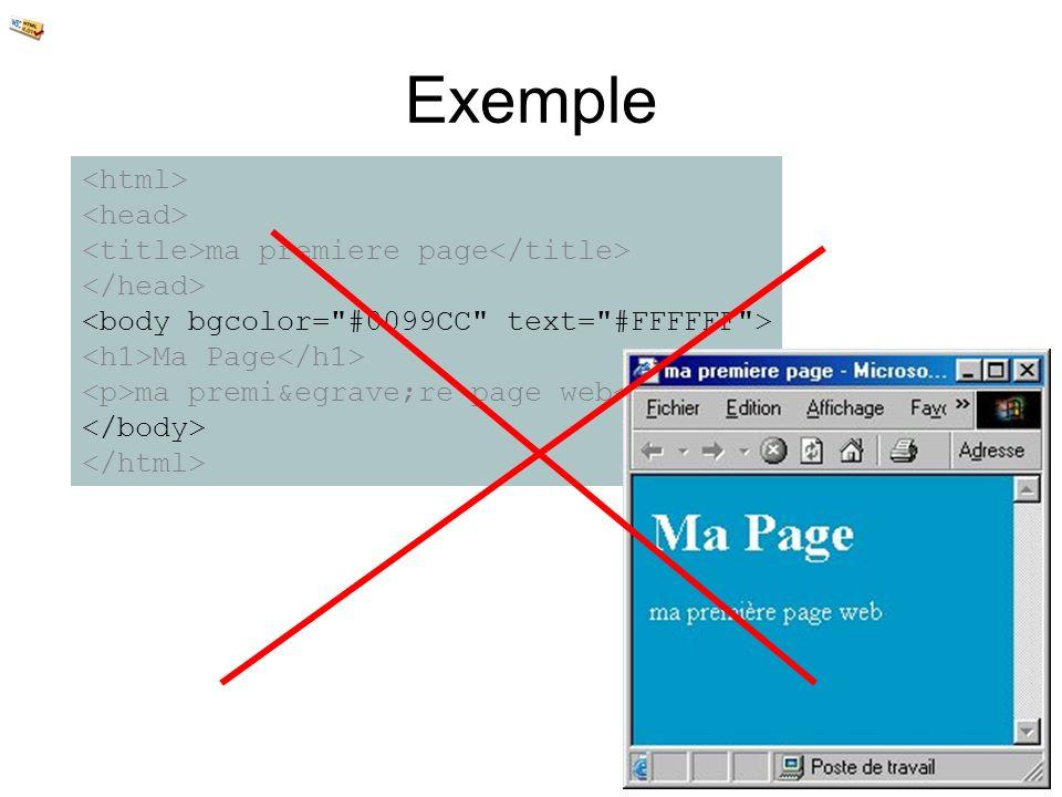 Exemple <html> <head>
