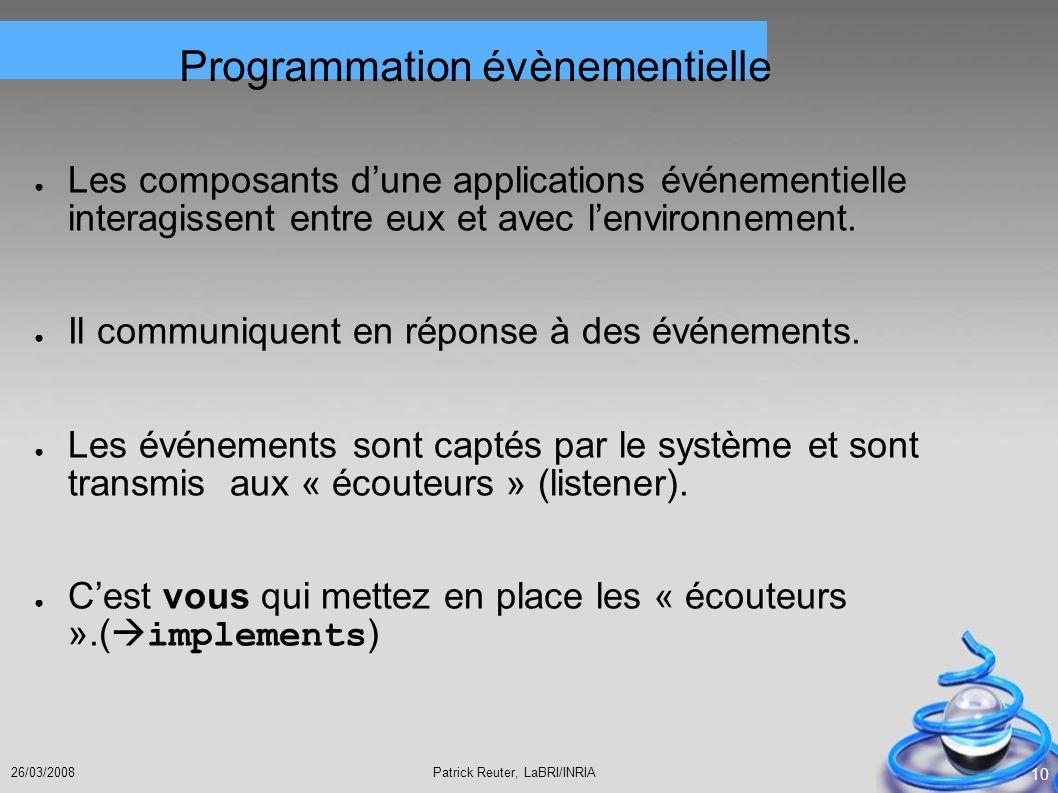 Programmation évènementielle