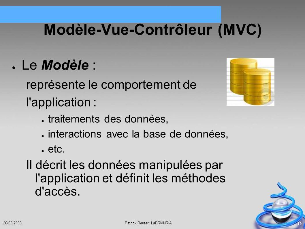 Modèle-Vue-Contrôleur (MVC)