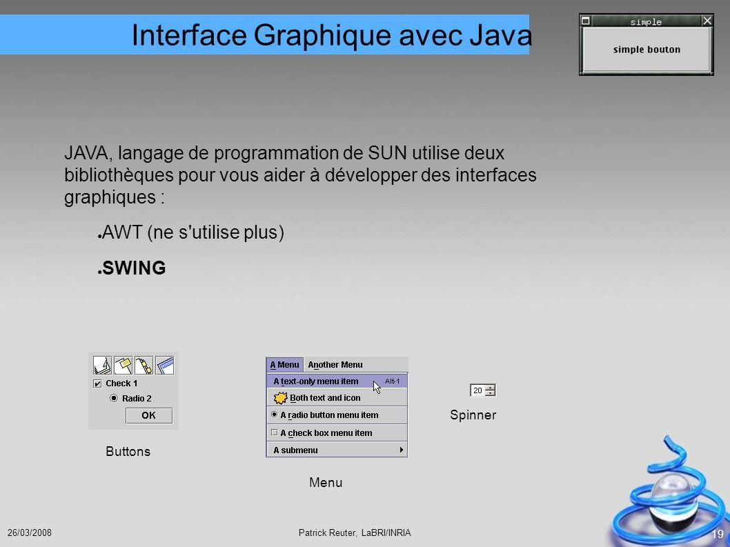Interface Graphique avec Java