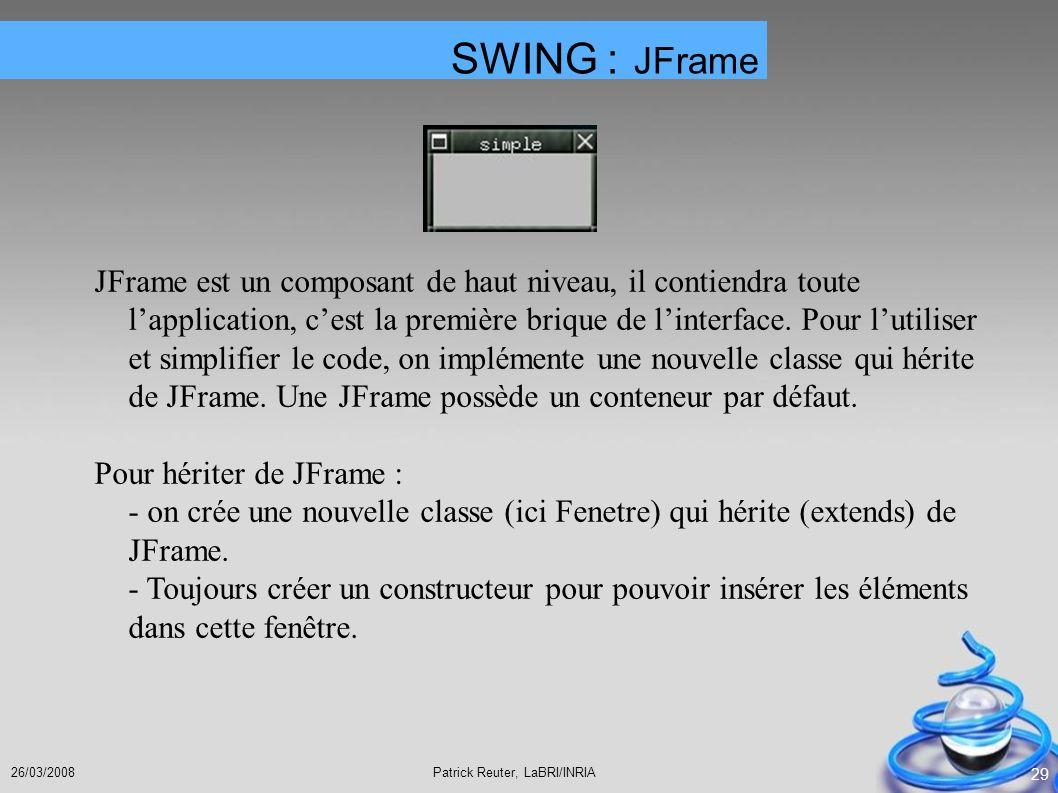 SWING : JFrame