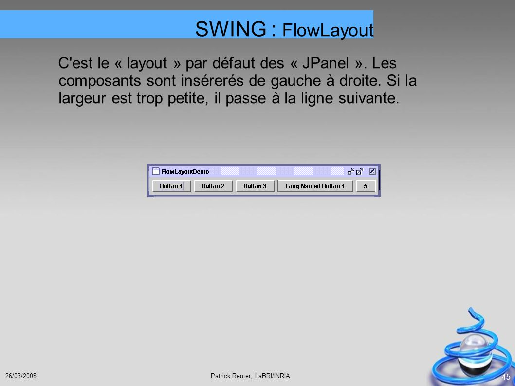 SWING : FlowLayout