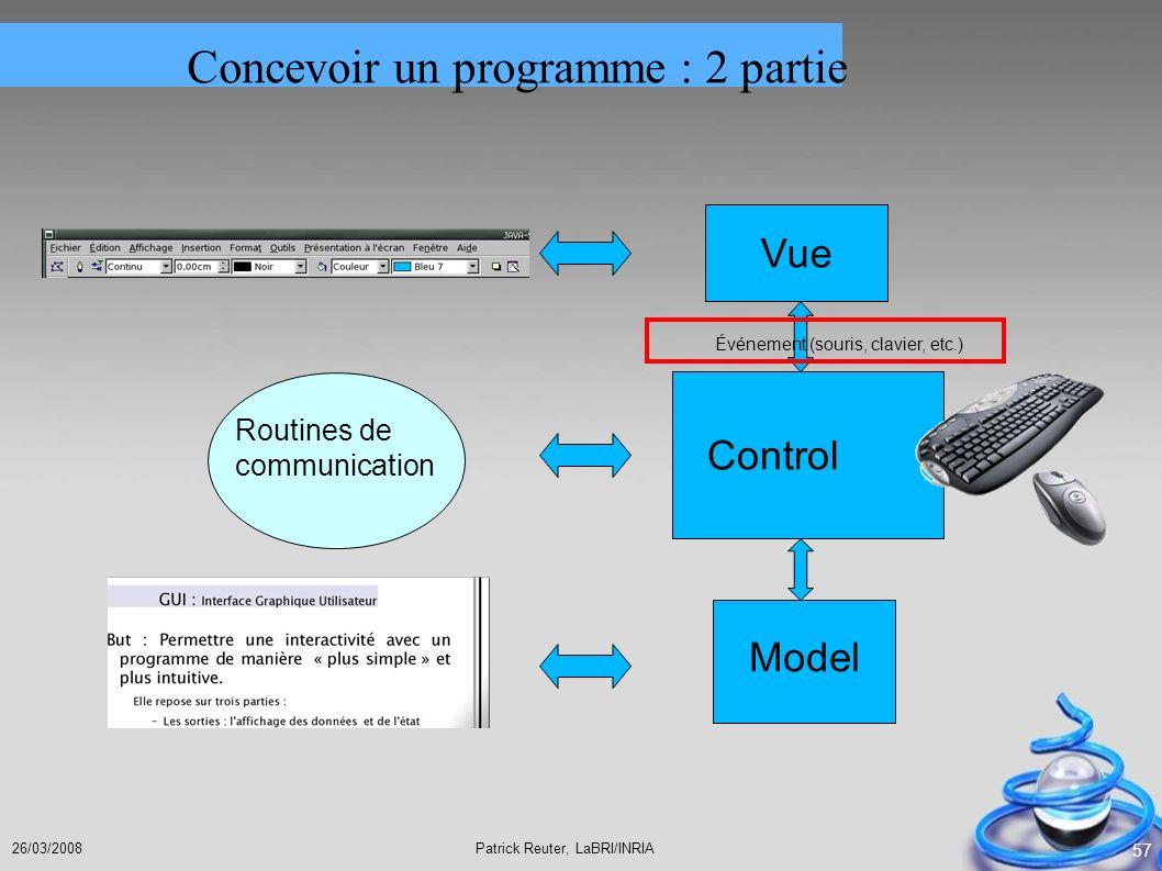 Concevoir un programme : 2 partie
