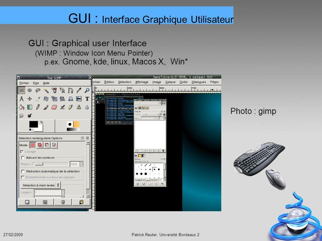 GUI : Interface Graphique Utilisateur