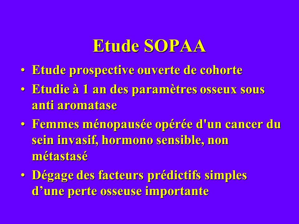 Etude SOPAA Etude prospective ouverte de cohorte