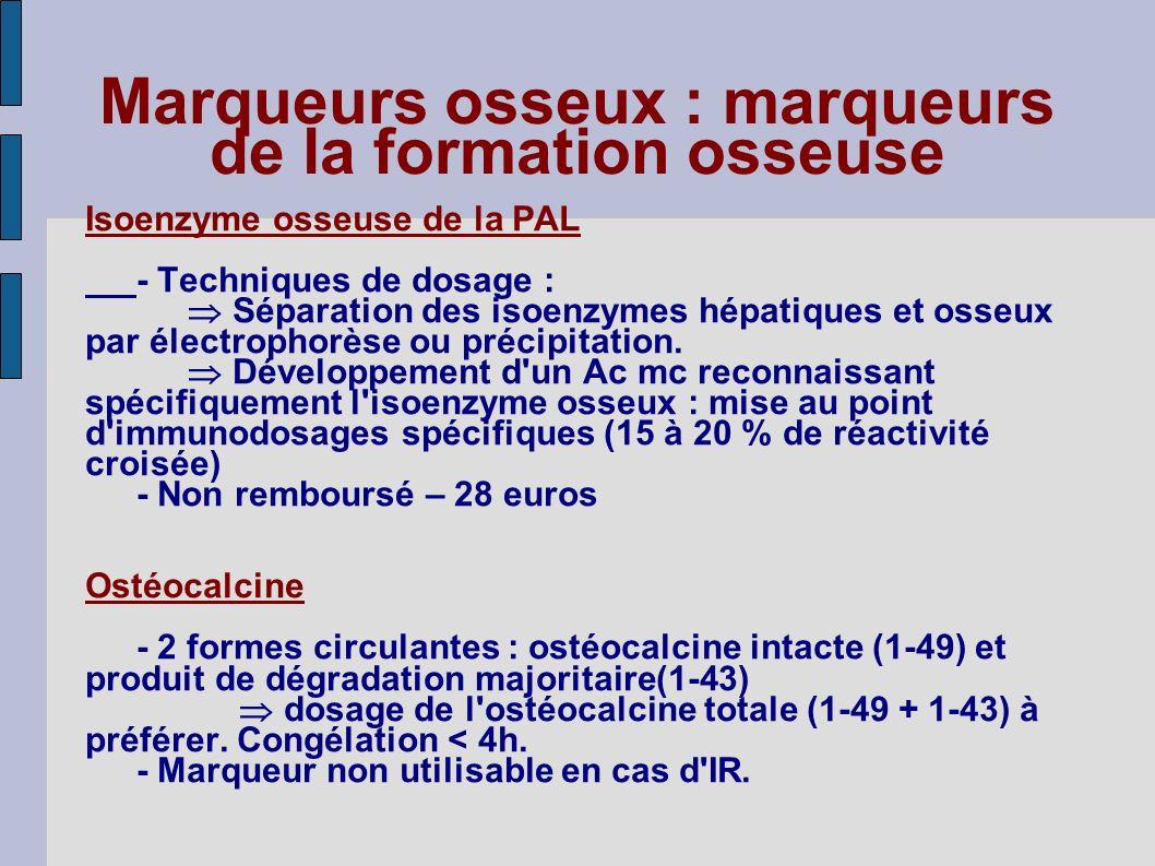 Marqueurs osseux : marqueurs de la formation osseuse
