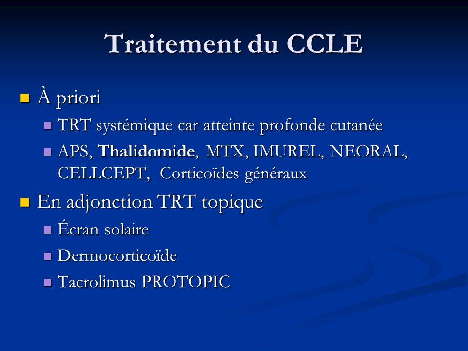 Traitement du CCLE À priori En adjonction TRT topique