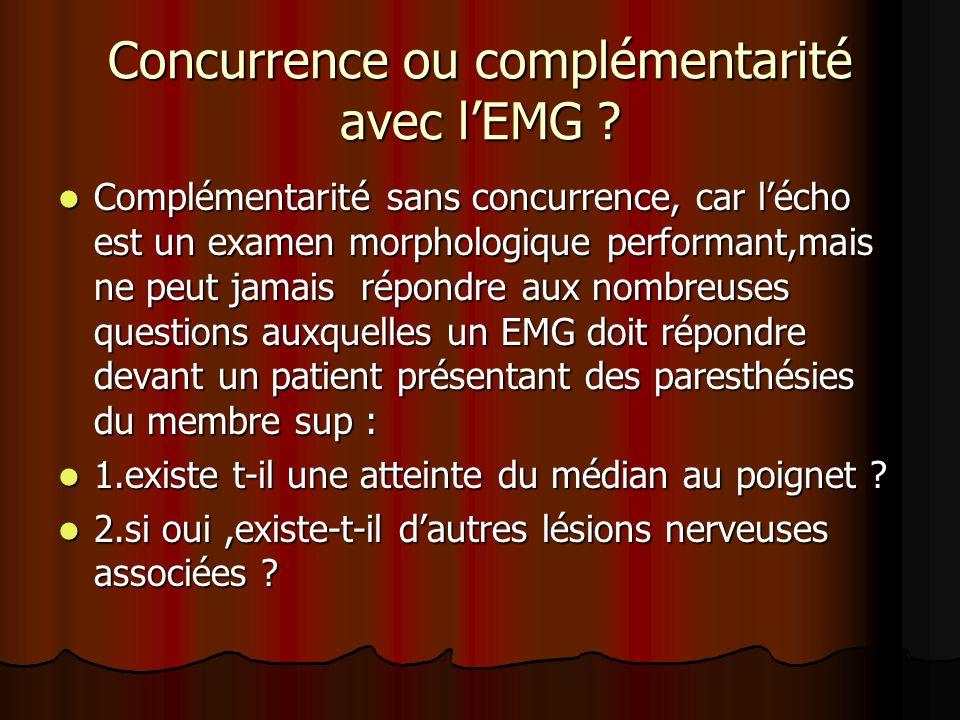 Concurrence ou complémentarité avec l'EMG