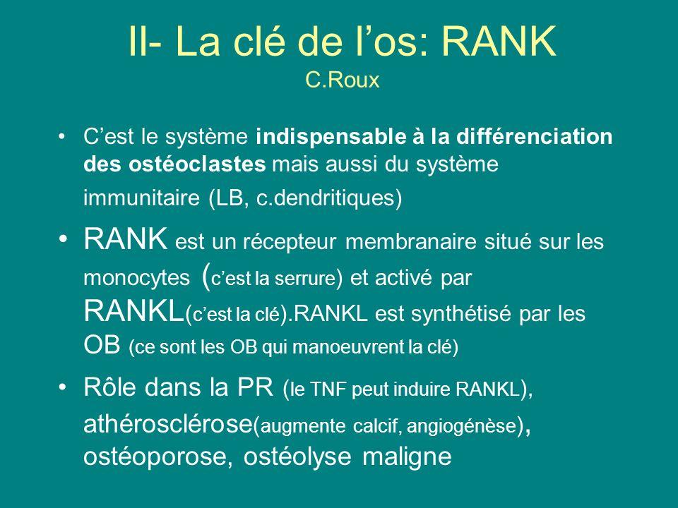 II- La clé de l'os: RANK C.Roux