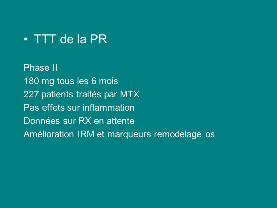TTT de la PR Phase II 180 mg tous les 6 mois