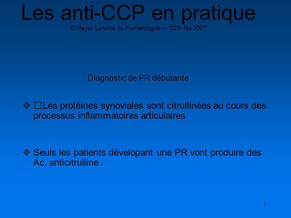 Les anti-CCP en pratique O