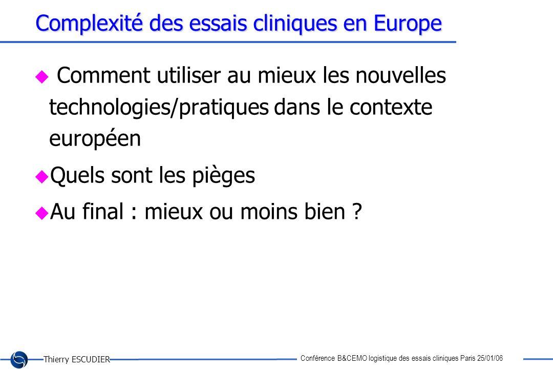 Complexité des essais cliniques en Europe